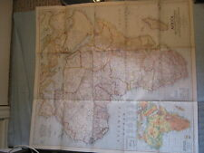 VINTAGE LARGE AFRICA & THE ARABIAN PENINSULA MAP National Geographic March 1950