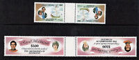 St VINCENT GRENADINES 1981 ROYAL WEDDING IN TETE BECHE GUTTER PAIRS MNH