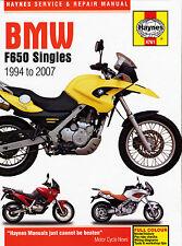 HAYNES 4761 MOTORCYCLE SERVICE REPAIR OWNER MANUAL BMW F650 SINGLES 1994 - 2007