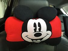 Mickey Mouse Car Accessory #1 : 1 piece Neck Rest Cushion Head Pillow Red,Black
