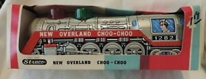 Vintage NOS Straco New Overland Choo-Choo LOCOMOTIVE Battery Operated in Box