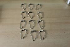 SHOWER CURTAIN HOOKS in SILVER COLOUR x 12 Pieces + 12 WHITE HOOKS