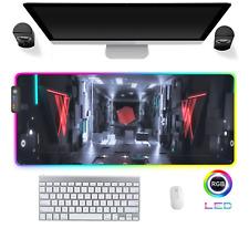 LED Gaming Mauspad Urban Design cvb RGB XXL Groß Mausunterlage PC Mat Mousepad