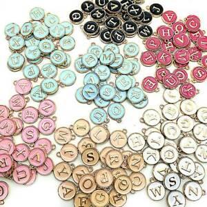 26Pcs/Set Letter Alphabet Charms Initial Letter Bracelet Jewelry DIY Craft US !!