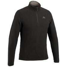 Quechua Decathlon Men's Hiking Fleece MH500 Black Pullover 1/4 Zip, SMALL