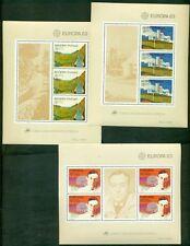 EUROPA 1983 Portugal + Azores + Madeira Souvenir sheets NH, VF Scott $28.00