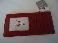 Mundi Credi Card Sleeve Wallet, Red