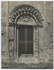 VINTAGE PHOTO, DECORATIVE GATE AT CHURCH ENTRANCE. ITALY. STRONG IMAGE, B W.