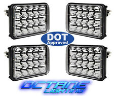 "4X6"" DOT LED Cree Light Bulbs Crystal Clear Sealed Beam Headlamp Headlight Set"
