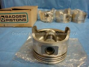 Honda 1488 1491 1493 Piston Set .020 CRX Civic DX D15A2 D15A3 1.5L OEM 4 cyl