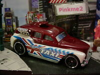 2016 Hot Wheels COCKNEY CAB II✿Burgundy/White Taxi✿Multi Pack Exclusive?✿ LOOSE