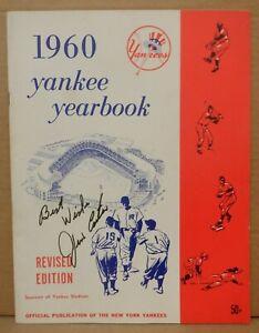 Jim Coates Yankees Autographed 1960 New York Yankees Yearbook w/ COA 081721MGL2