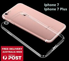 Iphone 7 or Plus 5.5 TPU Soft Silicone Clear Transparent Protector Cover Case