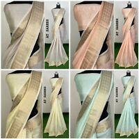 Saree Sari Silk Party Wear Indian Blouse Bollywood Designer Ethnic Wedding Fancy