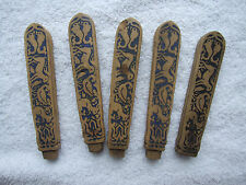 5 Indo Persian handles, c18th/19th century, with animalistic decoration. Damages