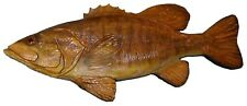 Chainsaw Carving Smallmouth Bass Hand Carved Crappie Bluegill Brownie 12283