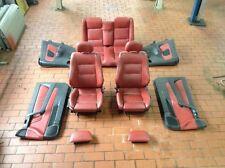 Opel Astra G Cabrio 2,0l 16V Turbo I komplette dunkel rote Lederausstattung