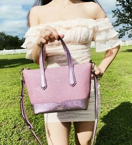 Kate Spade Joeley Lola Greta Glitter Ina Small Top Zip Satchel Crossbody Bag