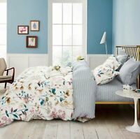 Autumn Floral Bedding Set: 1 Duvet Cover 2 Pillow Shams  Queen/King/Cal K