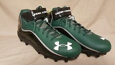 Under Armour Team Fierce Com  Black/Green Football Cleats Size 12 1237075-904