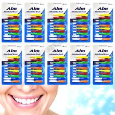 100 AIM Interdental Brushes Dental Brush Floss - (10 packs of 10)- B100P