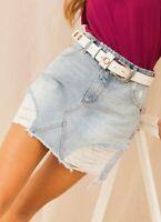 Rollas Rolla's Claudia Denim Skirt Ye Olde Blues Size 30 AU 12