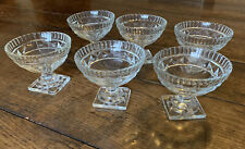 6 x Vintage Glass Desert Bowls
