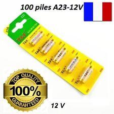 100 PILES A23 12 V MN21 K23A V23GA LRV08 L1028 LR23A E23 V23A GP23A EXP FIN 2023
