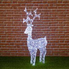 Renna luminosa con cristalli in acrilico, 200 led bianco freddo h 90cm