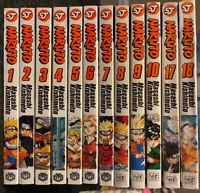 Naruto Manga 1 -10, 17, 18 Viz Action 1, 2, 3, 4, 5, 6, 7, 8, 9
