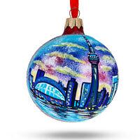 CN Tower, Toronto, Canada Glass Ball Christmas Ornament
