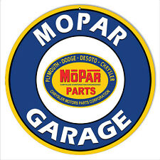 Mopar Garage Parts Reproduction Motor Oil Metal Sign 14 Round