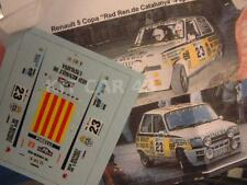 "DECAL CALCA 1/43 RENAULT 5 COPA ""RED REN. CATALUÑA"" J. BASSAS R. COSTA BRAVA '84"
