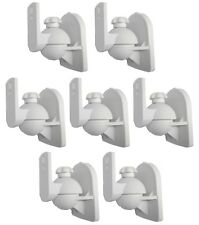 7 Pack Lot White Wall Speaker Mount for Klipsch Onkyo Sony Pyle LG RCA Bose Cube