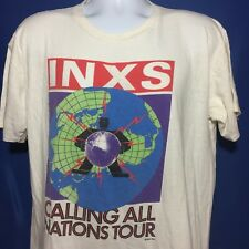 VTG 1988 INXS Calling All Nations Concert Tour T Shirt Rock New Wave 80s *M