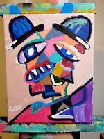 CORBELLIC ART PLAGUE DOCTOR, MODERN BASQUIAT ART, EXPRESSIONIST SIGNED, ORIGINAL