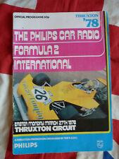 1987 Philips Car Radio Formula 2 International Programme Thruxton Circuit