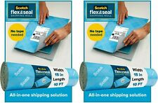 2 Pack- Scotch Flex and Seal Shipping Roll, 10 ft x 15 in Packaging Alternative