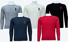 Mens EX POLO ASSN Sweatshirt  Knitwear Sweater Jumper Crew Neck Long Sleeve Tops