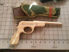 "MAGNUM ""12"" Wood Rubber Band Shooter Pistol - Multiple Shot Repeater w/Holster"