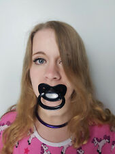 Adult Pacifier Soother Dummy from the dotty diaper company, Black