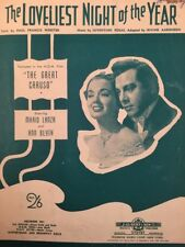 THE GREAT CARUSO (Film) The Loveliest Night of the Year MOVIE SHEET MUSIC (M081)
