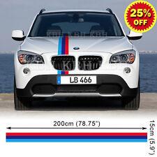 M Performance 3 Colors Hood Stripe Decal Sticker for BMW X1 X3 E83 E84 F25 SUV