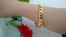 "Sale! 10"" 12mm 18K Gold Plated Chain Stoneless Bracelet Anklet, Christmas Gift"