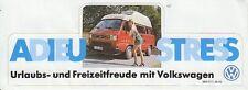 VW Bus T3 - Aufkleber - Adieu Stress - NEU