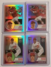 Mike Trout, Shohei Ohtani RC 2018 Topps Chrome 1983 Refractor 4 Card Lot Angels