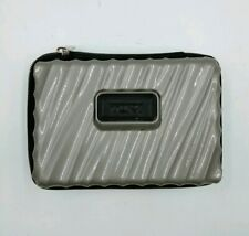 Tumi for Delta Toiletry Hard Accessory Case Silver/Gray Travel Kit Case Only