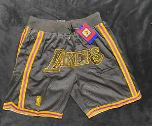 New Season Los Angeles Lakers Black City Edition Basketball Shorts Size S-XXL