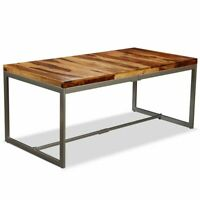 """Dining Table Solid Sheesham Wood and Steel 70.9"""""""