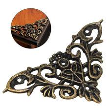 12 * Antique Brass Jewelry Chest Wood Box Decorative Feet Leg Corner Protector